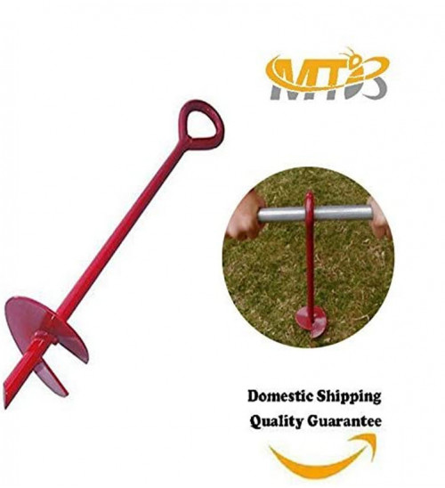 MTB 15 Inch Auger Earth Anchor 3 Inch W Helix, 12mm Rod,Guying Tents Fencing Canopies for Garden Beach Picnic Camping,Pack of 6