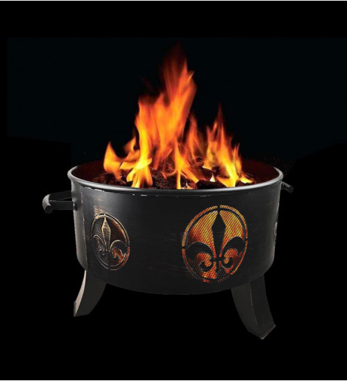 MTB Outdoor 24 Inch Fire Pit, with Antique Bronze