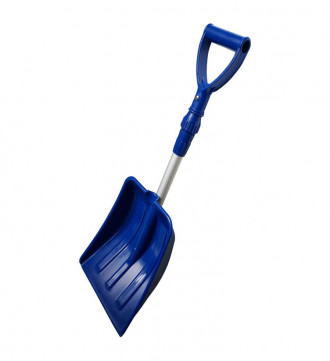 MTB Portable Snow Shovel for Car, Pack of 2 Sets, Blue, with Extendable Aluminum Handle