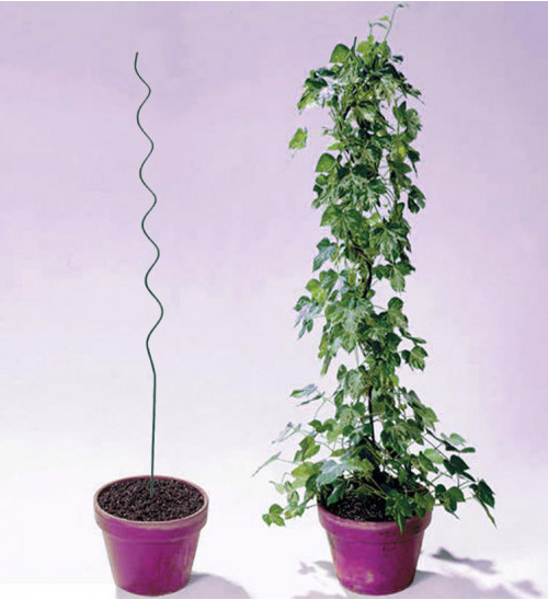 MTB Plant Supports Spiral Tomato Cages Green 59 inch Height/Dia 6mm, Pack of 10, Climbing Plant Stake Tower