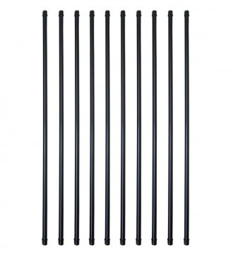 MTB 3/4 Inch Round x 26 Inch Length Staircase Balusters Standard Plain Black Coated for Stair/Deck/Porch Pack of 10