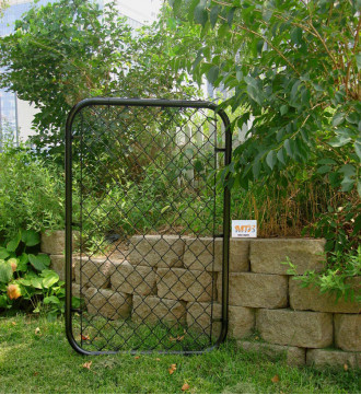 MTB Galvanized Chain Link Garden Walking Fence Gate 48-inch Overall Height by 32-inch Frame Width (Fit a 36-inch Opening), 1 Pack Walk Through Farm Gate