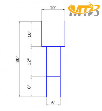 MTB H Frame Wire Stakes 30 x10-inch (Pkg of 50) 9ga Metal -Yard Sign Stakes for Advertising Board,Garden Lawn Stakes for Yard Signs