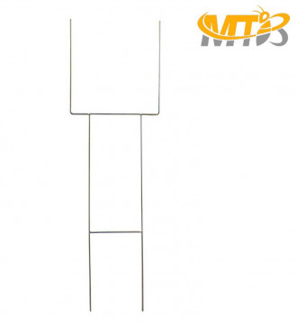 MTB H Frame Wire Stakes 30 x10-inch (Pkg of 100) 9ga Metal -Yard Sign Stakes for Advertising Board,Garden Lawn Stakes for Yard Signs