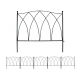 MTB Decorative Garden Border Fence Panel 24 in x 24 in, Pack of 5, Totally 10 ft, Decorative Wire Fencing Garden Border Edging Garden Fence Animal Barrier