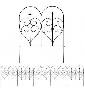 MTB Decorative Garden Border Fence Panel 32 in x 10 ft, Decorative Wire Fencing Garden Border Edging Garden Fence Animal Barrier