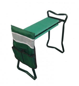 MTB Heavy Duty Folding Garden Kneeler and Seat for Weeding and Portable Garden Stool Seat with Bonus Tool Pouch, EVA Kneeling Pad