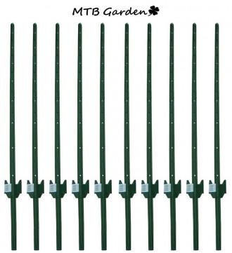 MTB Garden Sturdy Duty Fence Post U Post 5 Feet, Pack of 10
