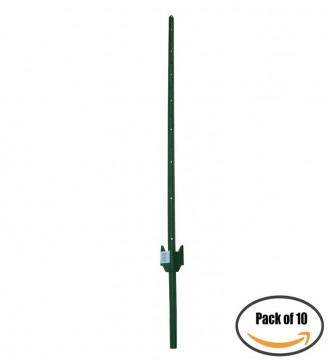 MTB Sturdy Duty Fence Post U Post 5 Feet, Pack of 10