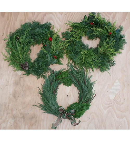 MTB Wire Wreath Frame 12 inch Green, Pack of 10 Wreath Form