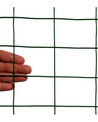 "MTB Green PVC Welded Wire Mesh Garden Economy Fence 48"" x50'- 2""x3"" 16GA"