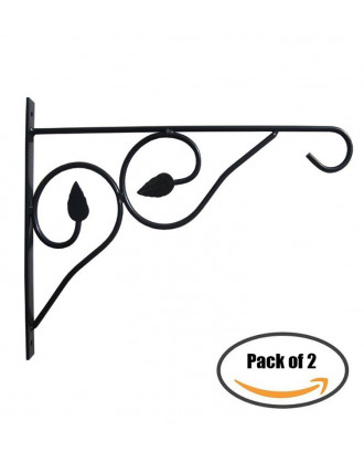 MTB Hanging Plant Brackets 15 x 12-inch, Pack of 2 Hanging Brackets Plant Hangers