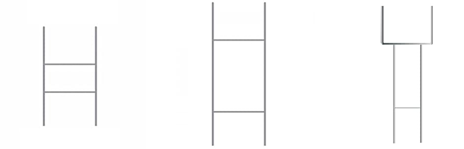 MTB H Frame Wire Stakes 30 x10-inch 9ga Metal -Yard Sign Stakes for Advertising Board,Yard Stakes for Signs
