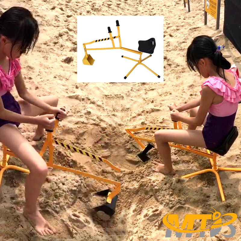 MTB Kid Ride-on Dig Working Crane Sand Play Digger Yellow Scooper Outdoor Crane for Sandbox Excavator Dig Toy in Sand, Beach, Snow, Dirt--- Backyard Toys for chrildren
